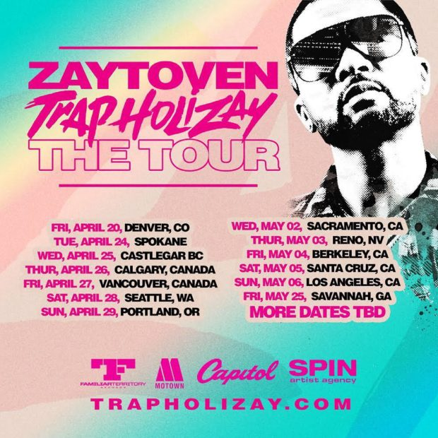 zaytoven trap holizay tour dates