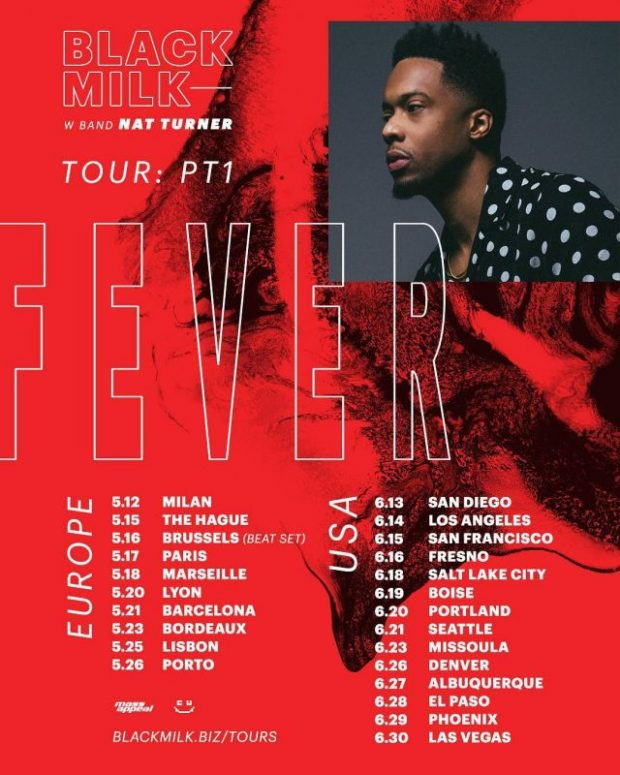 black milk fever tour dates