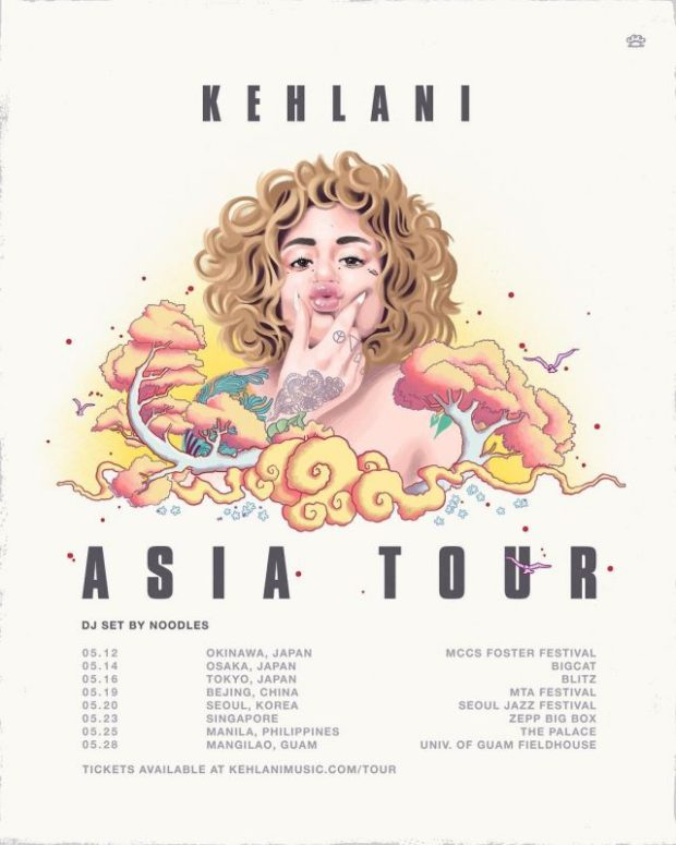 kehlani asia tour dates