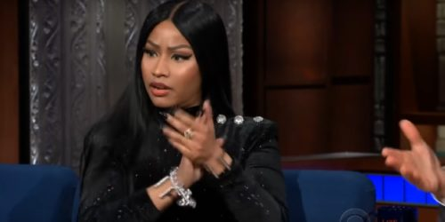 Video: Nicki Minaj Hits Stephen Colbert For A New Interview