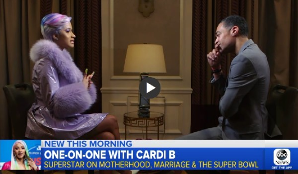 Video: Cardi B – Good Morning America Interview